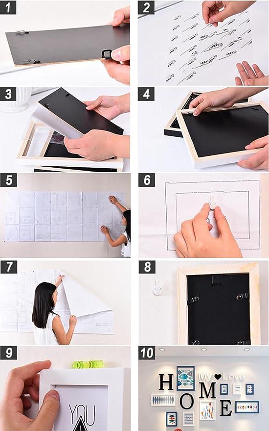 Unbekannt Dekorrahmen 9 teile/sätze Collage Bilderrahmen Set ...