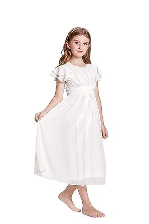 short white chiffon dress