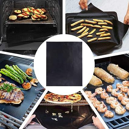 Non-stick BBQ Grill Mat Baking Mat Teflon Cooking Grilling Sheet Heat Resistant