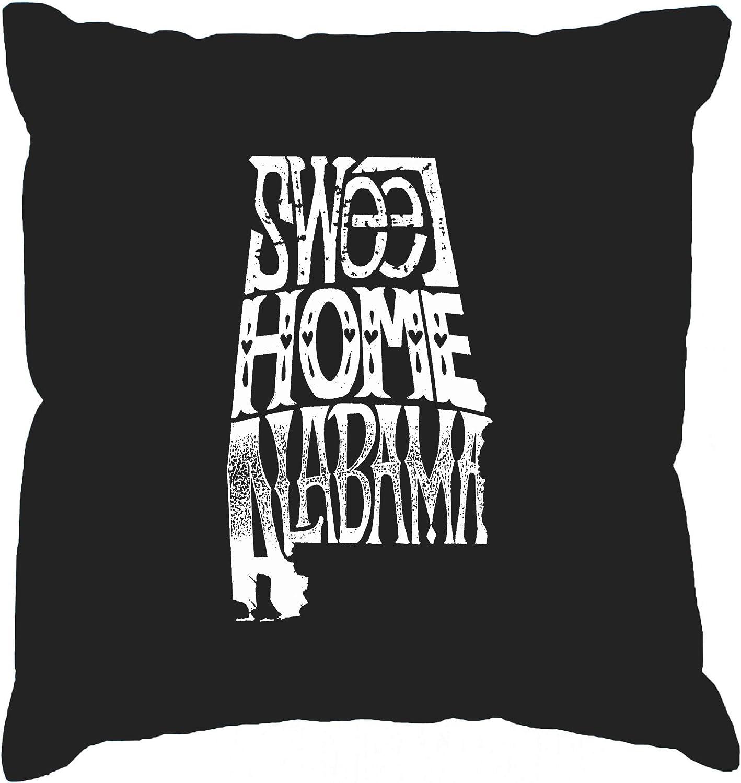 LA Pop Art Throw Pillow Cover - Sweet Home Alabama