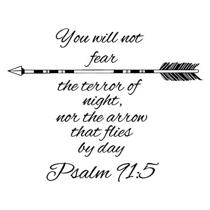 Arrow Quotes | Wall Decals Quotes Psalm 91 5 Quote Bible Verse Arrows Sign Words