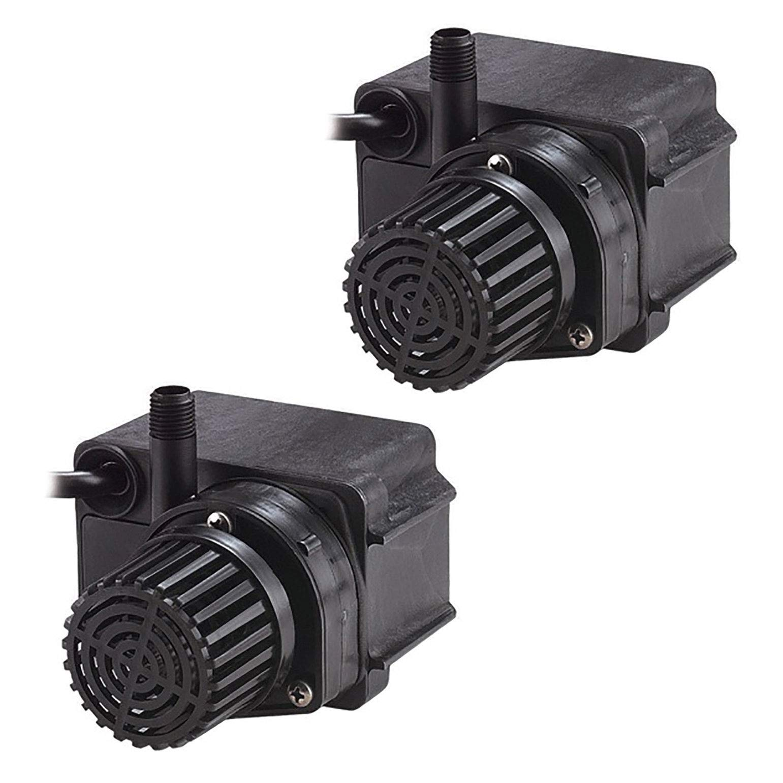 Little Giant 170 GPH 36W Efficient Direct Drive Submersible Pond Pump (2 Pack)