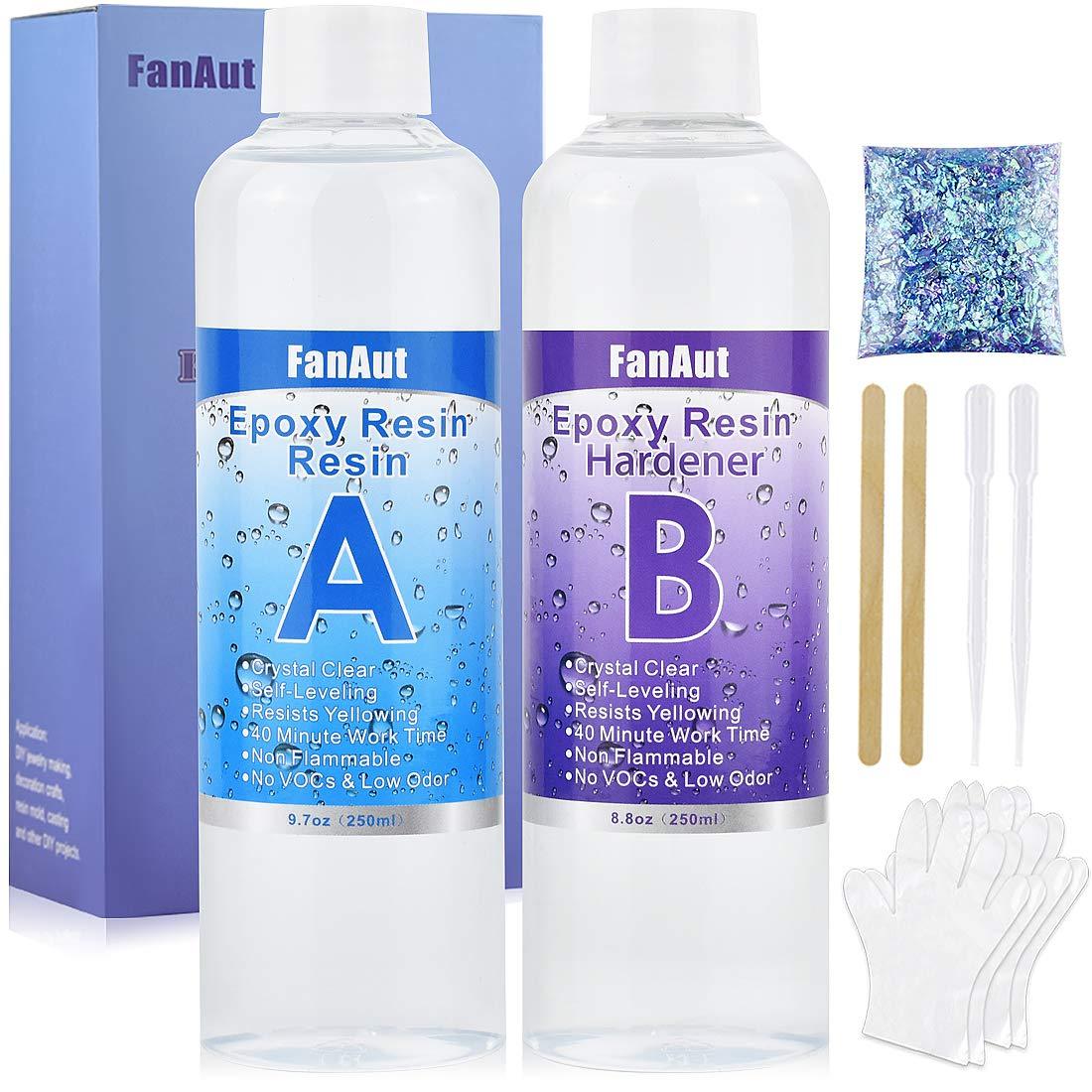 FanAut Epoxy Resin Crystal Clear