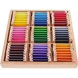 Sharplace Montessori Caja Sensorial de Madera Ejercicios de Colores Regalo de Cumpleaños…