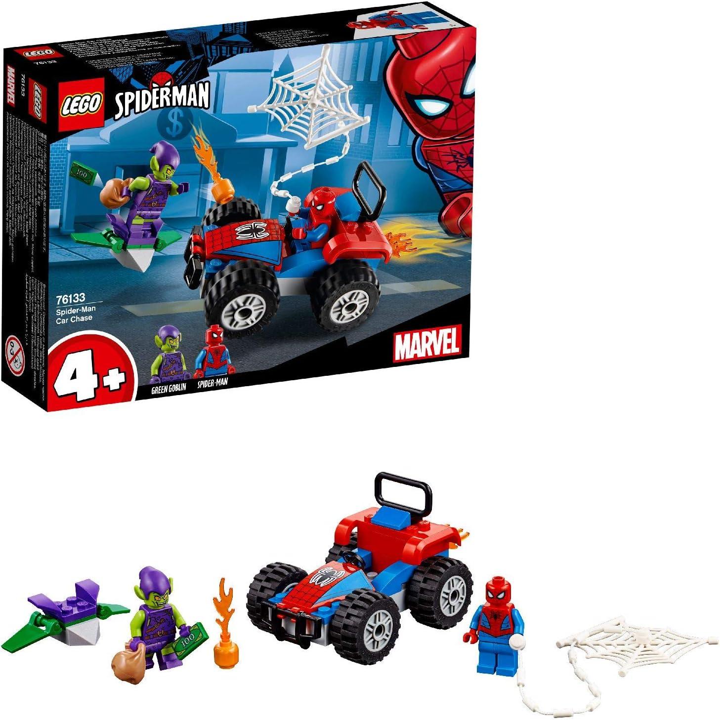 Lego-Minifiguras Serie X 1 Negro Araña de cuerda para las piezas de Spider Man-Super Heroes