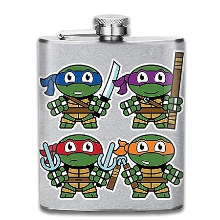 Lindo petaca de bolsillo con diseño de las Tortugas Ninja ...