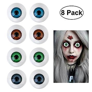 luoem halloween eyeballs plastic eyeballs halloween horror props costume for party favors 8 pcs