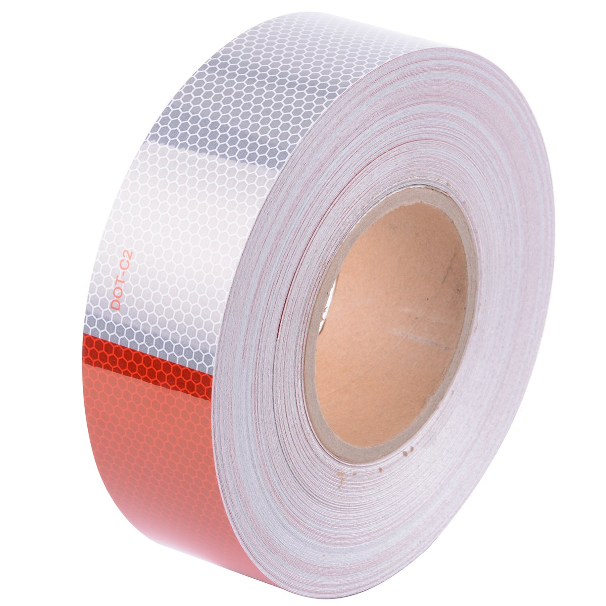 DOT-C2 High Intensity Safety Tape Reflective Tape Auto Car Red And White Adhesive (2'' x150')