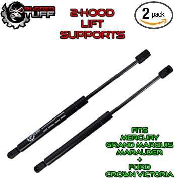 2pcs Front Hood Lift Supports Shocks Struts Arm For 98-11 Ford Crown Victoria