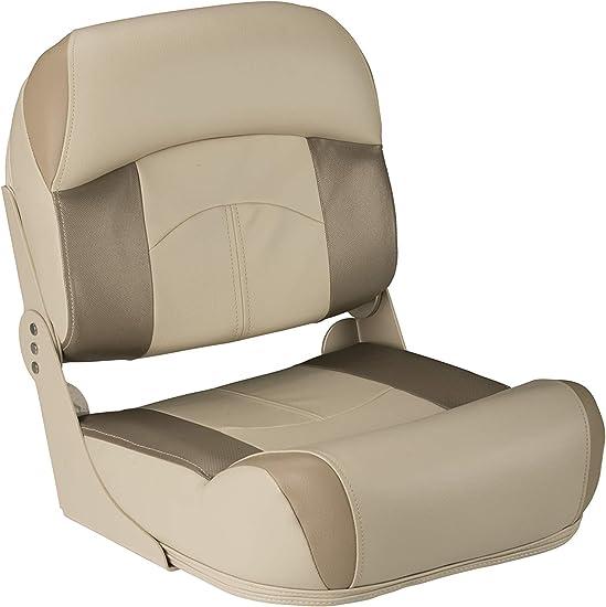 Boat Seats 4 Pack Brown High Back Folding UV Vinyl Pontoon Bass Fishing Seat New
