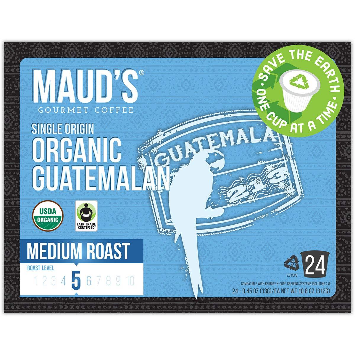 Mauds Coffee & Tea; Recyclable Single Serve Organic Single ...