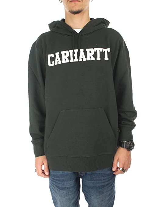 Carhartt Felpa College Hoodie Verde Hombre S 9, 4OZ Loden/White: Amazon.es: Ropa y accesorios