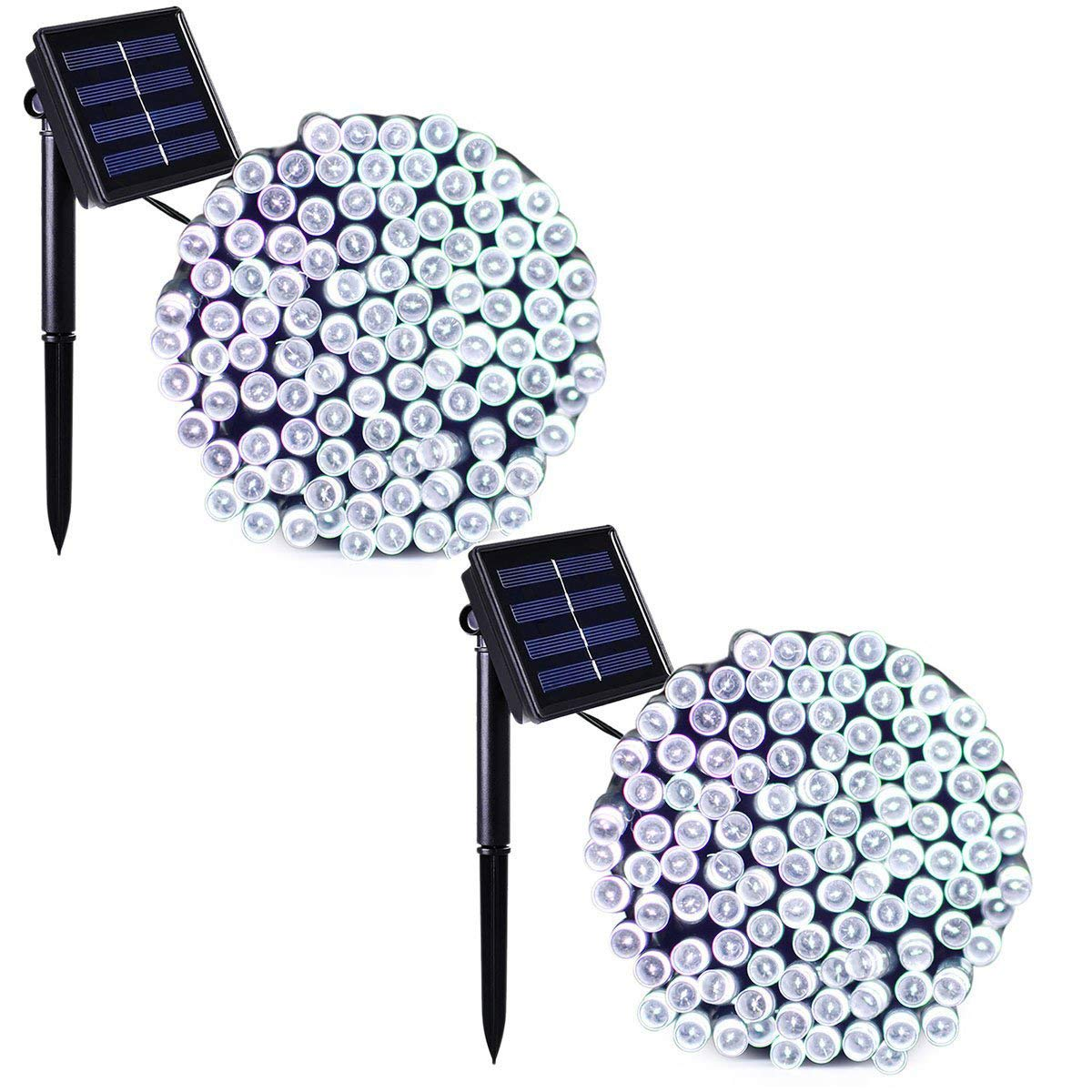 Binval Solar Fairy Christmas String Lights, 2-Pack 72ft 200LED, Ambiance Lighting for Outdoor, Patio, Lawn, Landscape, Fairy Garden, Home, Wedding, Holiday Party and Xmas Tree(White) by Binval