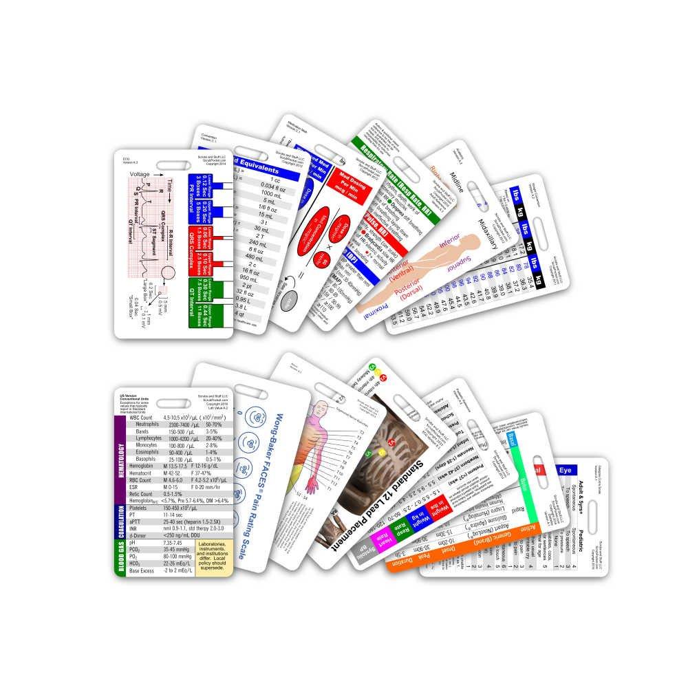 Complete Nurse RN CNA NA Vertical Badge Card Set – 13 Cards