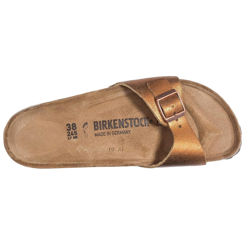 0c1037d8b1ea Birkenstock Womens Madrid Leather Washed Metallic Antique Copper Sandals 7  UK  Amazon.co.uk  Shoes   Bags
