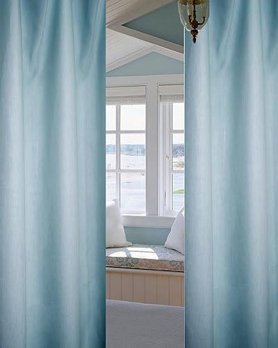 Deveson 100 Linen Panels-Curtains-Drapes Spa