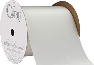 "product image for Offray Berwick 4"" Wide Double Face Satin Ribbon, White, 20 Yds"