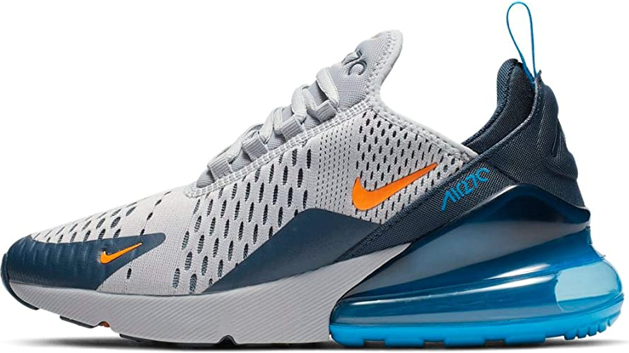 Nike Air Max 270 (GS) 943345 015 Wolf GreyOrangeNavyPhoto Blue Kids Shoes