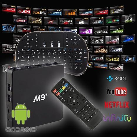 M9 Plus M9 Amlogic S905 64bit Quad-core Android 5,1 Smart TV Box Set de