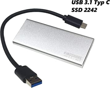 Daniko - Carcasa para disco duro externo SSD M2 NGFF 2242 USB 3.1 tipo C M.2 SATA S-ATA Stick: Amazon.es: Electrónica