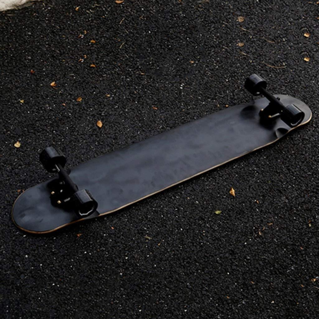 ノンスリップスケートボード ロングボード スケートボード スクラブホイール スケートボード 高伸縮性スケートボード 高荷重 スケートボード ホイール 耐摩耗性 ブラック JLZS-007 ブラック