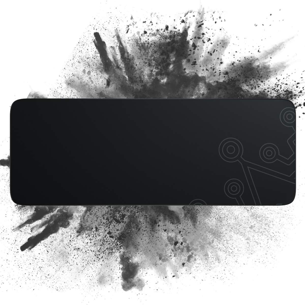 Dierya Gaming Mouse Pad, Large Durable Suitable Size Glowing Mousepad, Non-Slip Rubber Base Computer Soft Keyboard Pad Mat(31.3X 11.9in)
