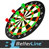Magnetic Dart Board Set with 16 Inch Dartboard and 6 Darts - by Better Line