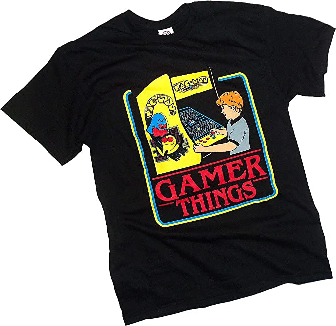 Licensed Official Gamer Things T-shirt for Men, XL, 3XL