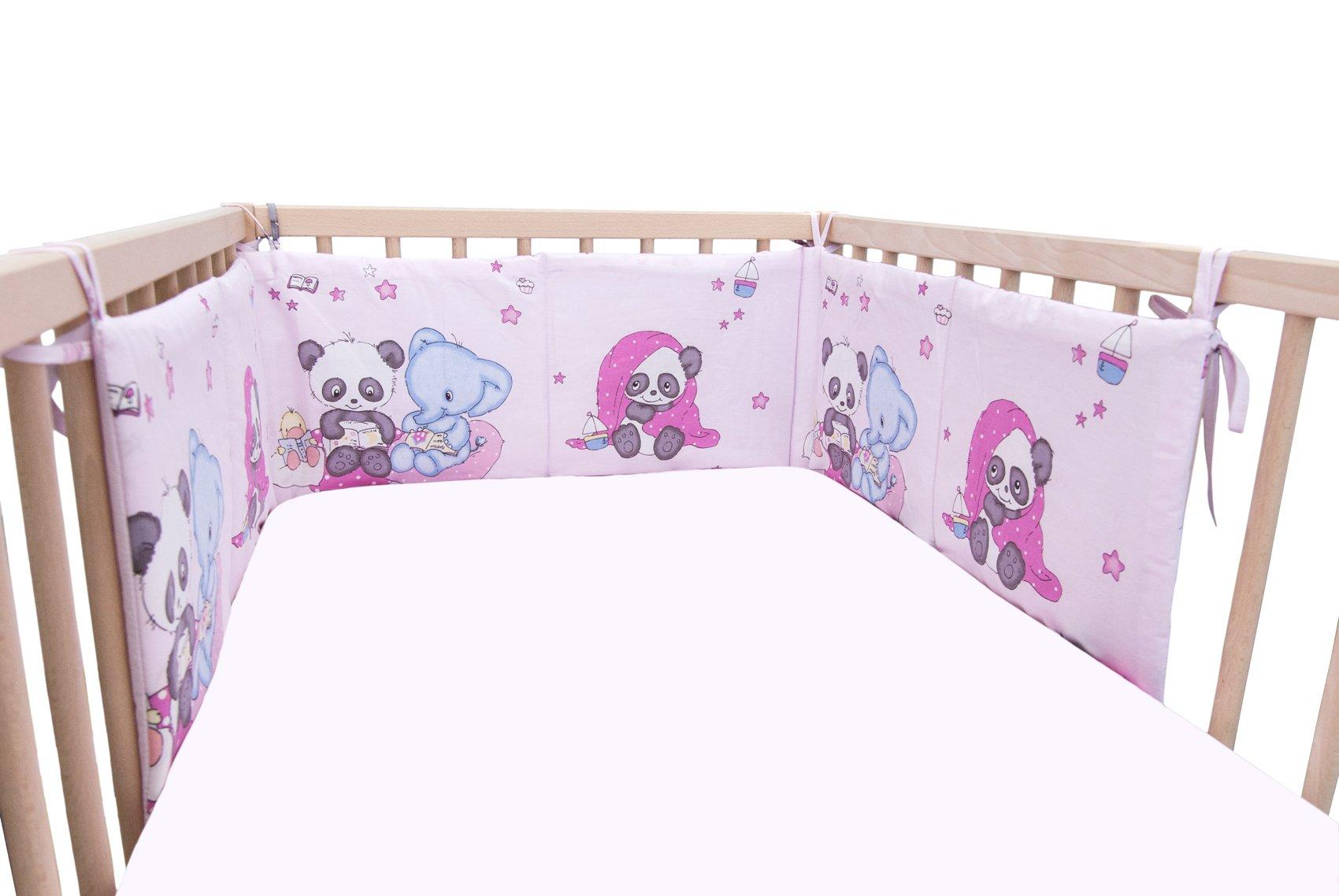 Baby Panda & Friends / SoulBedroom Cotton Cot Bumper Pad Half (210x40 cm)