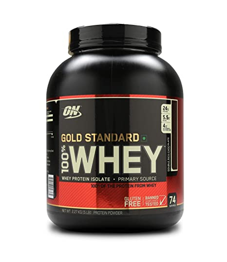 787f66445 Optimum Nutrition (ON) Gold Standard 100% Whey Protein Powder - 5 ...