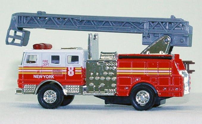 Toysmith Pullback Toy Fire Engine Die Cast 4855