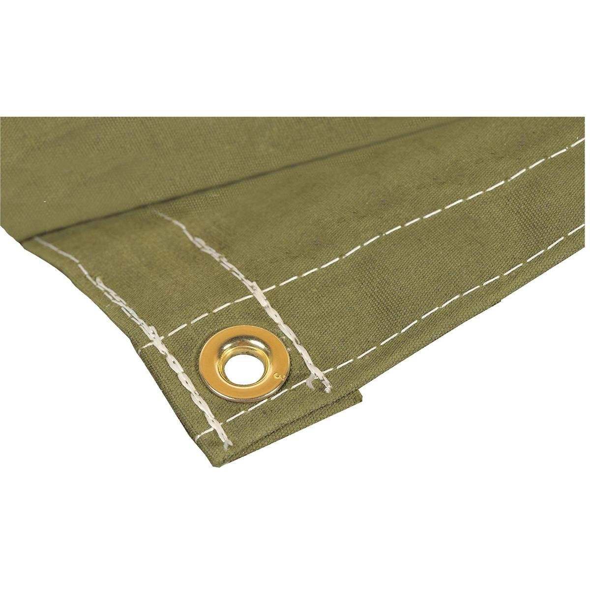 GEMPLER'S Weather Tough Super Tarp, Large 10'X20' Olive Ultra-Strong Rugged Fully Breathable Waterproof Poly/Canvas Blend Tarpaulin with Brass Spur Grommets