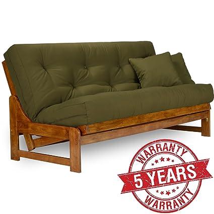 arden futon frame   full size solid hardwood amazon    arden futon frame   full size solid hardwood  kitchen      rh   amazon