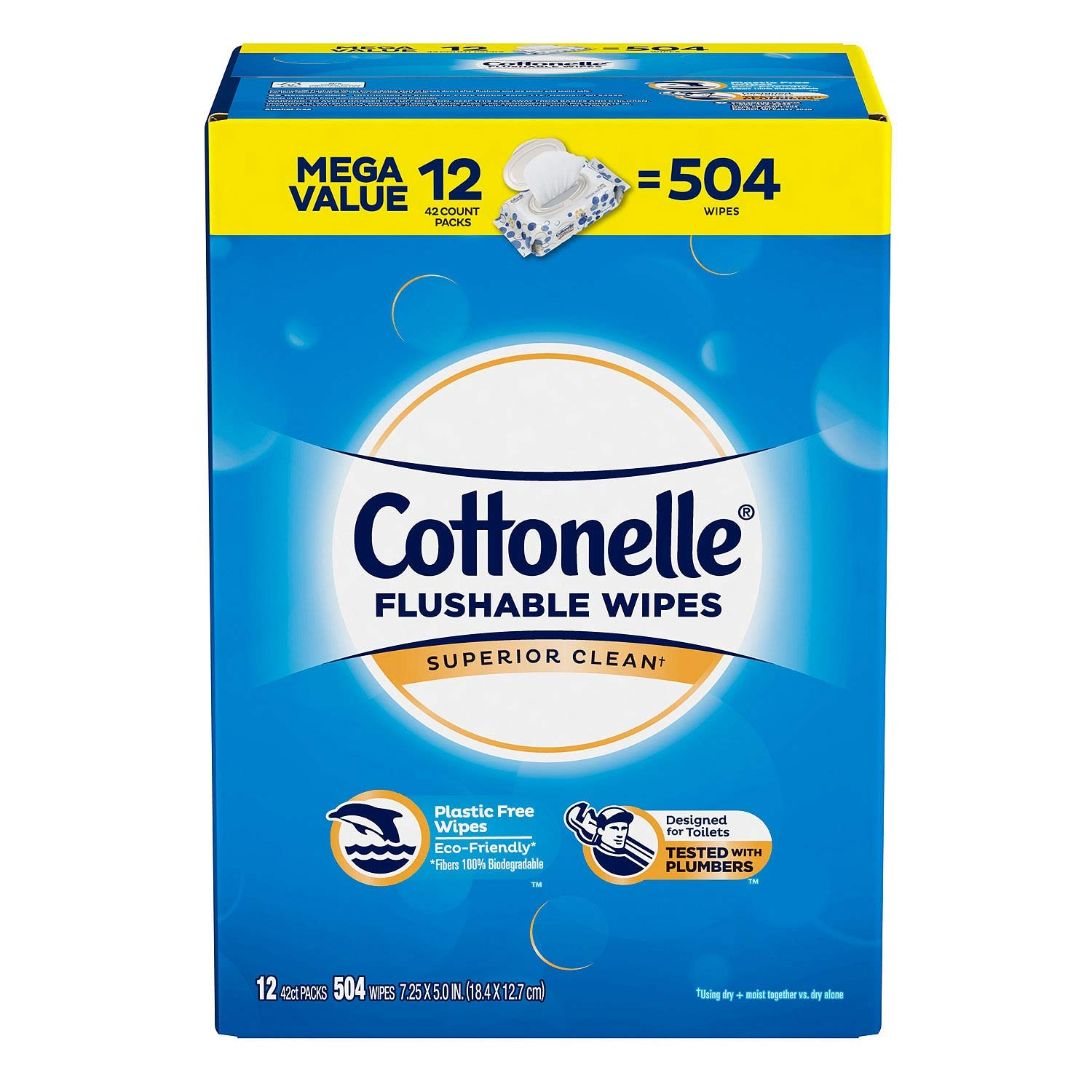 Cottonelle Fresh Care Flushable Cleansing Cloth, 504 Count (2-Pack(504 Count)) by Cottonelle