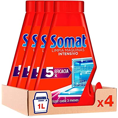 Somat Limpia Máquinas Aditivo Lavavajillas - Pack de 4 x 260 ml - Total: 1040 ml