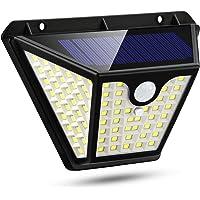 Luz Solar Exterior 102 LED,[2200mAh-3 Modos Inteligentes]Foco Solar con PIR Sensor de Movimiento Iluminación de…