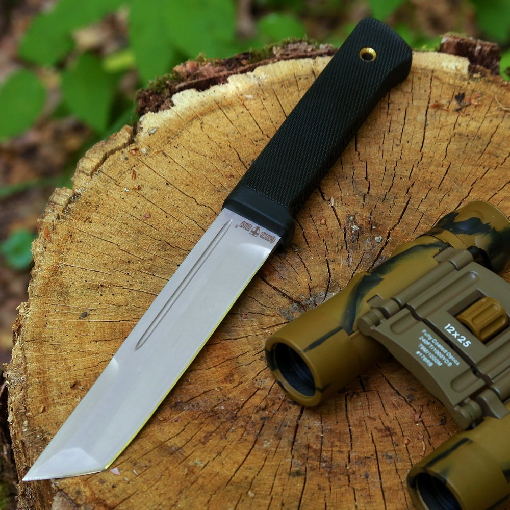 Grand Way Tanto Fixed Blade Knife - Stainless Steel Japanese Tanto Blade Knives - Black Tactical Military Survival Traditional Ninja Knife with Sheath 2787 U-A by Grand Way (Image #6)