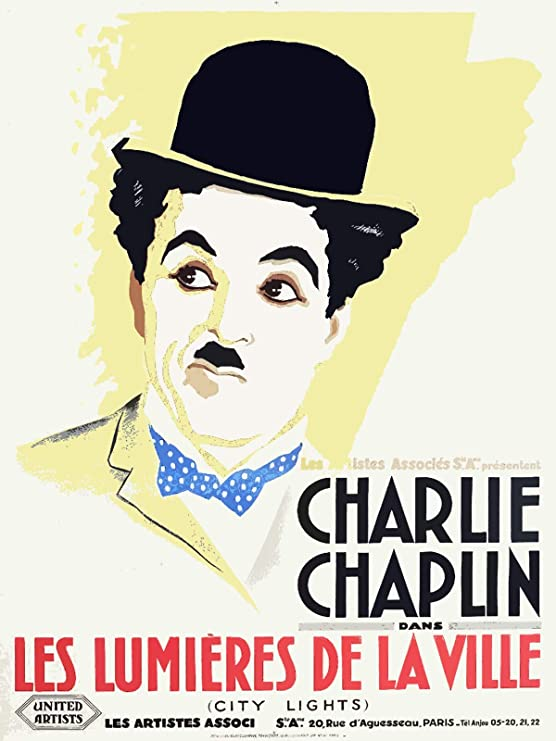 Amazon Com 18 X24 Decor Poster Printed On Canvas French Les Lumieres De La Ville Charlie Chaplin In France 8380 Posters Prints