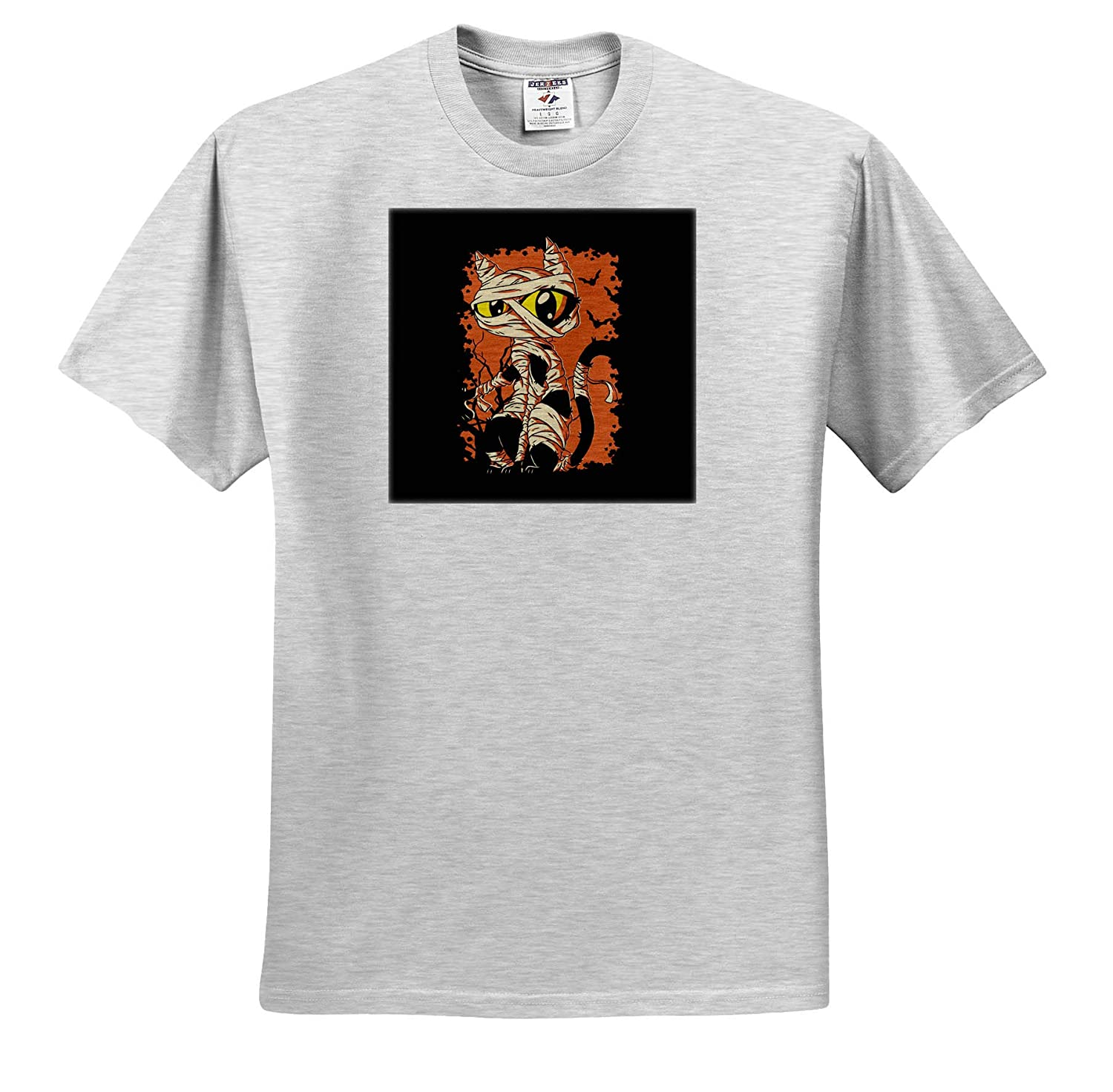ts/_319404 Adult T-Shirt XL Funny Halloween Cat as a Pharaoh Mummy Egypt 3dRose Sven Herkenrath Fantasy