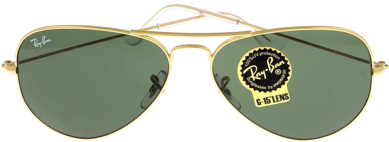 983ceabbc6cca Amazon.com  Ray Ban Sunglasses Aviator Gold Unisex RB3025 L0205  Clothing