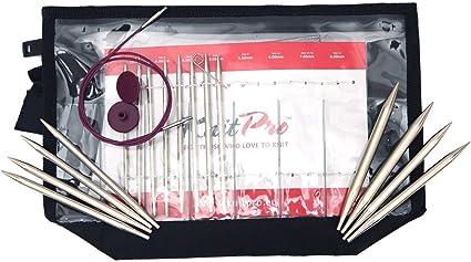Knit pro Zing aguja juego 15 cm//20 cm de 2,0 mm 8,0 mm de fácil agujas de metal