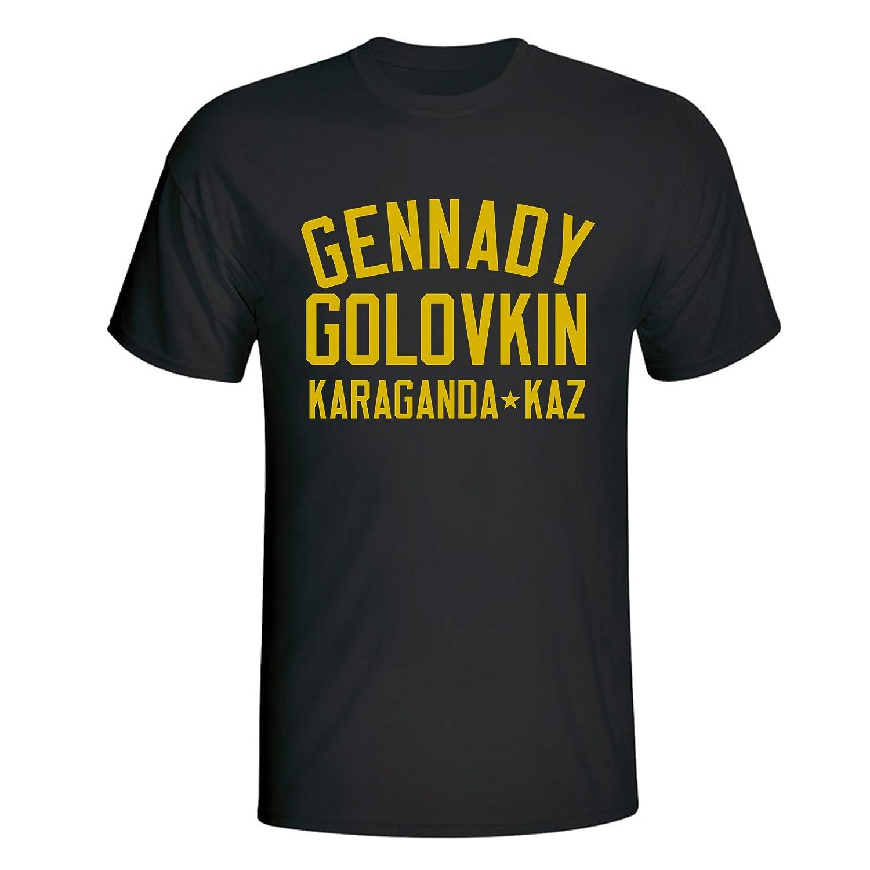 b946f64fb8e MDMWT Gennady Golovkin Boxing T-Shirt Black-Yellow - XXL: Amazon.co.uk:  Clothing