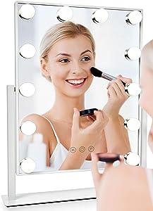 Albor Makeup Vanity Mirror with Lights - Lighted Makeup Mirror with Lights Mirrors Led Mirror Makeup Light Lighted Mirror Vanity Lights Makeup Vanity with Lights Vanity Light Led Vanity Mirror