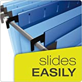 "Pendaflex SureHook Reinforced Hanging Box File, 3"", Letter, Blue, 1/5 Cut, 25/BX"