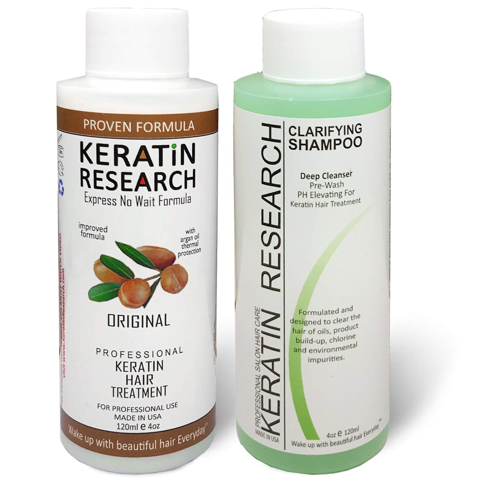 Complex Brazilian Keratin Hair Blowout Treatment Professional Results Straighten and Smooths Hair 120ml Queratina Keratina Brasilera Tratamiento by KERATIN RESEARCH