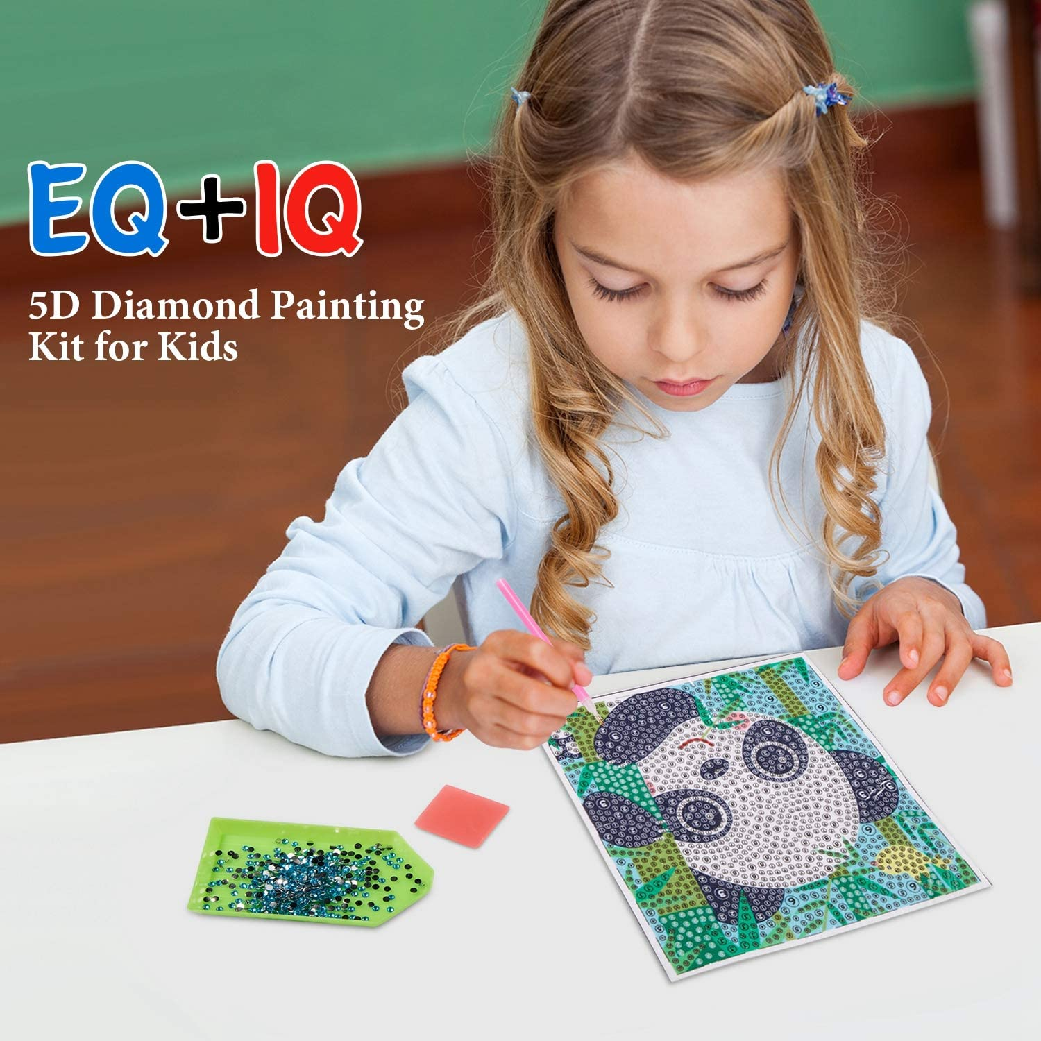 Yisong 3 Packs 5D Diamond Painting Kit for Kids Full Drill Painting by Number Kits Easy to DIY Diamond Painting Art and Crafts Set for Home Wall Decor