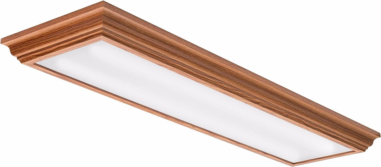 Lithonia Lighting FMFL 30840 CAML OA 4-Foot LED Cambridge Linear Flush Mount, 2800 Lumens, 120 Volts, 35 Watts, Damp Listed, Oak