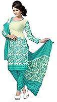 Jashvi Creation Women's Faux Cotton Unstitched Dress Material(JC_DM_586, Blue)