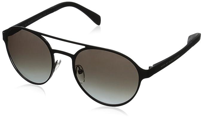 514c4ac3b34a Marc by Marc Jacobs Women's MMJ453S Round Sunglasses, Matte Black Ruthenium  Black & Gray Gradient