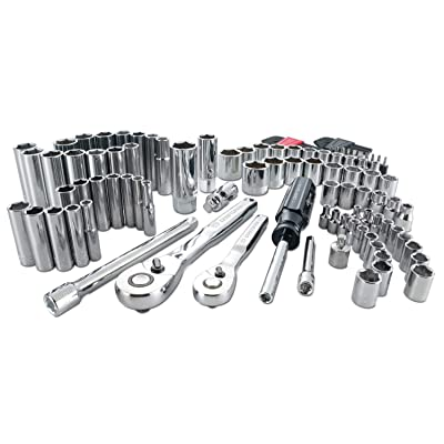 CRAFTSMAN Mechanics Tool Kit, 1/4-Inch & 3/8-Inch Drive, 105 Pieces (CMMT12023)